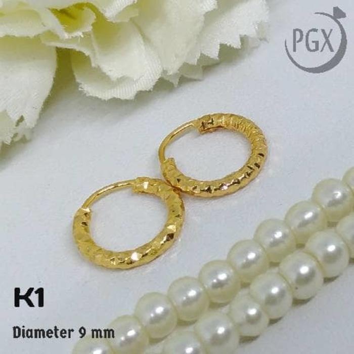 K1 Anting Gipsy Anak / Bayi - XUPING  - Perhiasan Lapis Emas 18K