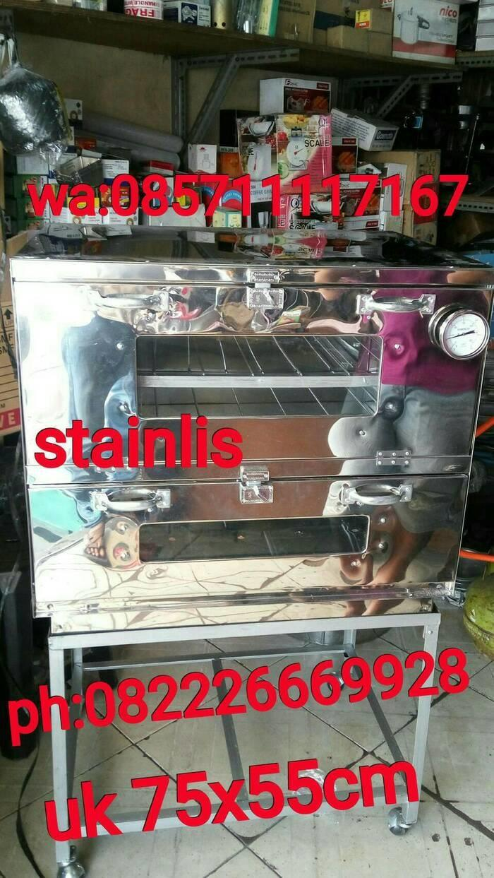 OVEN GAS KUE STAINLIS UK 75x55x70CM+THERMOMETER
