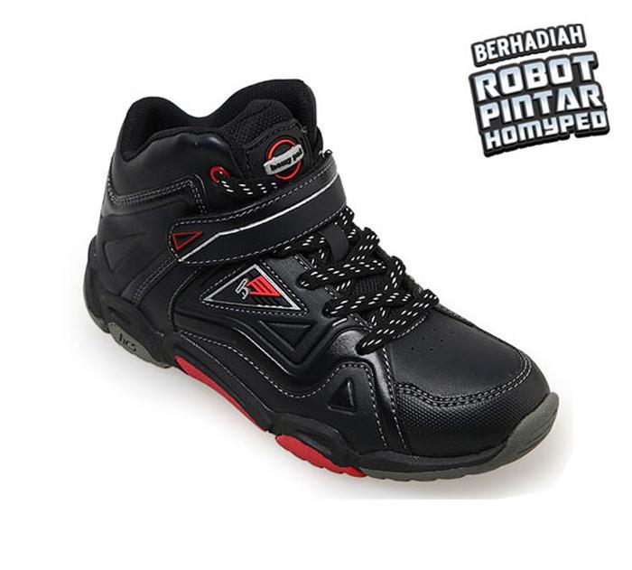 Homyped Megatron 03 Sepatu Sekolah Anak - Black