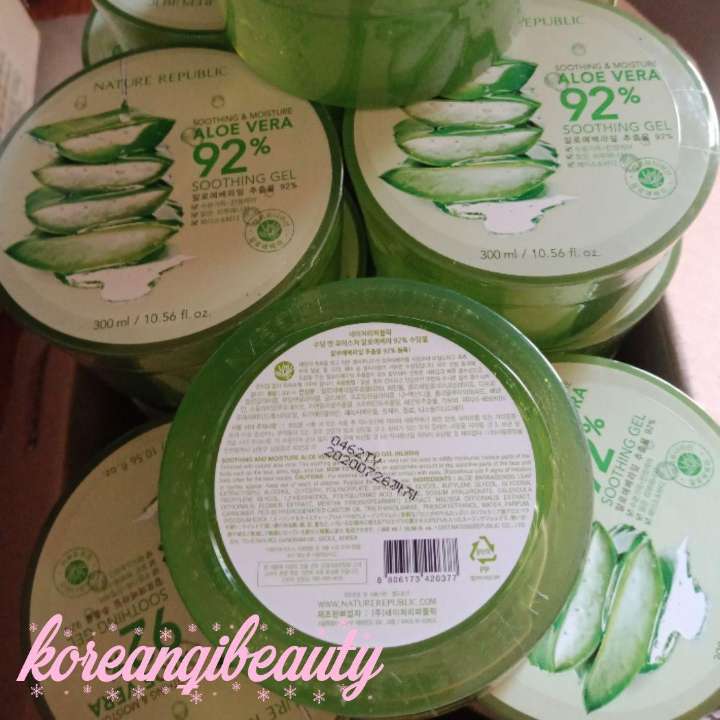 Cek Harga Baru Nature Republic Aloe Vera 92 Soothing Gel Ori 100 300ml Original Gambar Produk Rinci Terkini