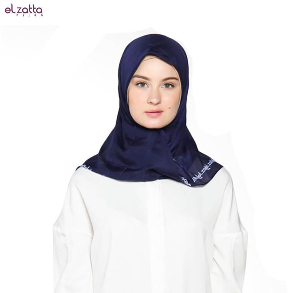 Elzatta Hijab / Hijab / Hijab Segi Empat / Scraft / Elzatta Basic / E006 NAVY