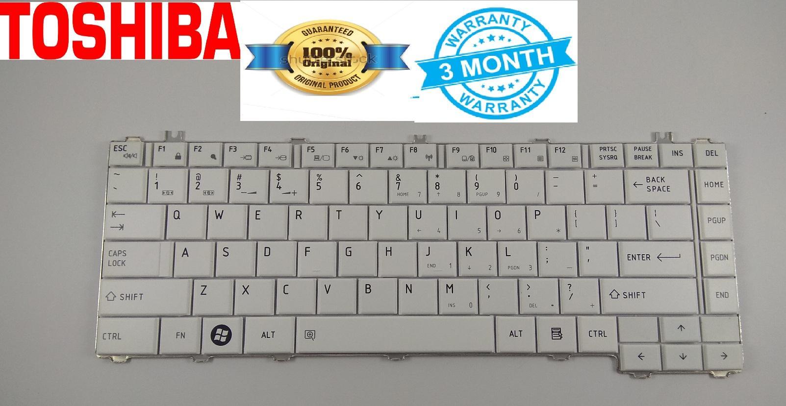 Toshiba Keyboard Original C600 C640 L640 L635 L645 L735 L745 White ORI