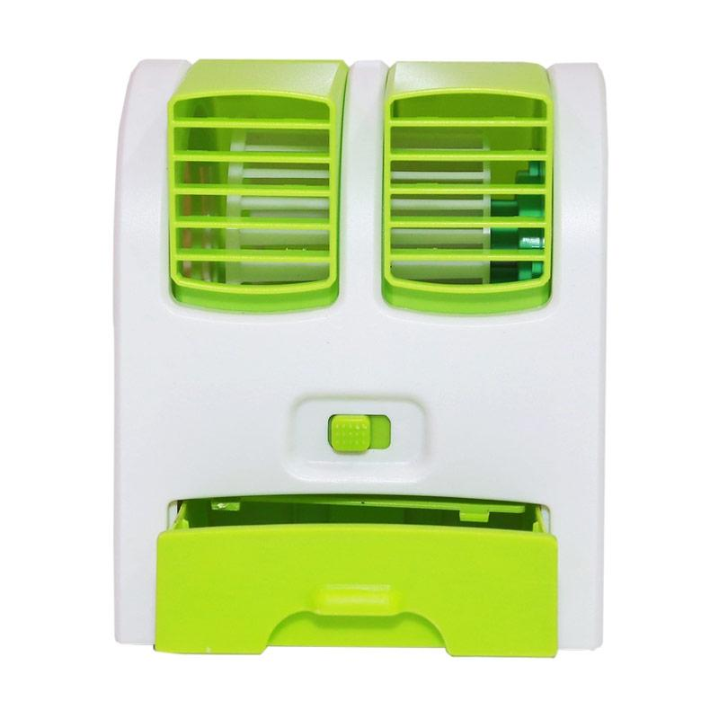 AC Mini Portable Double Fan - Kipas Angin Kecil