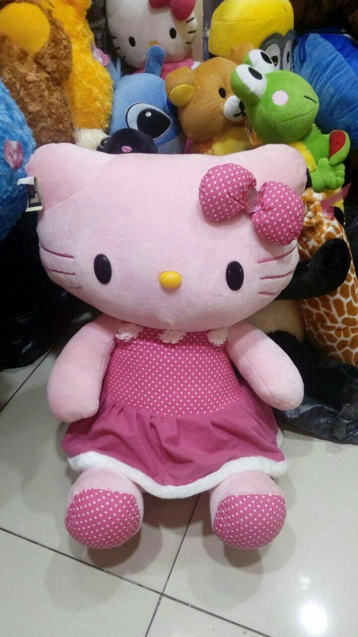 Fitur Ready Boneka Hello Kitty Pink Dress Flowers Jumbo Dan Harga Keropi 2