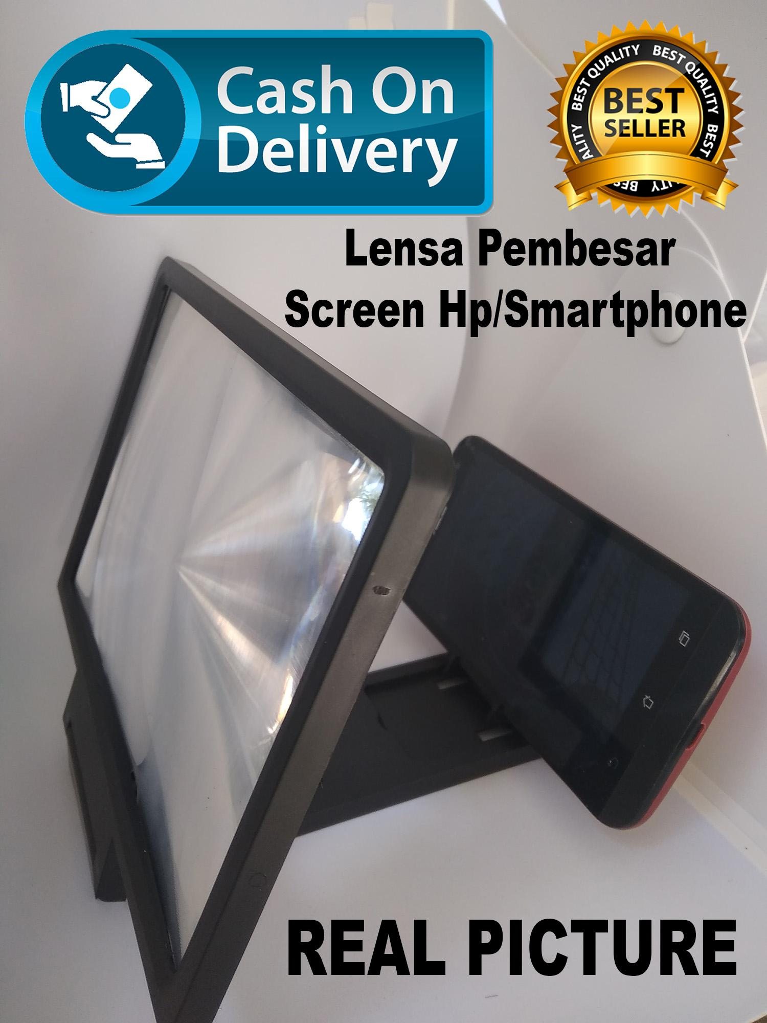 Kaca Pembesar Handphone HP/Lensa Pembesar Smartphone Kaca Pembesar 3D untuk Smartphone Enerlage Screen Mobile Phone Hp Android Handphone Enerlarged 3 Dimensi Reduce Eye Fatigue Desain Trendi Nonton Video Film Material Kaca Acrylic Gambar Jelas Tajam Ringa