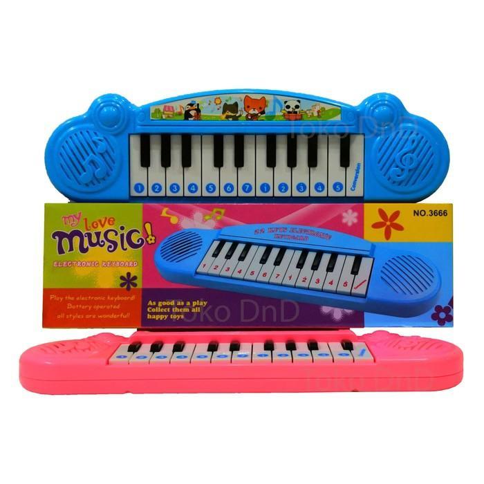 Mainan Anak - Electronic My Love Keyboard Play Piano Murah Music 22 - Reri4o