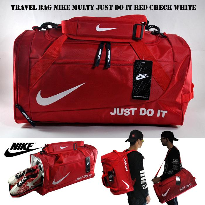 TAS OLAHRAGA TRAVEL BAG 3 IN 1 NIKE JUST DO IT MERAH PUTIH