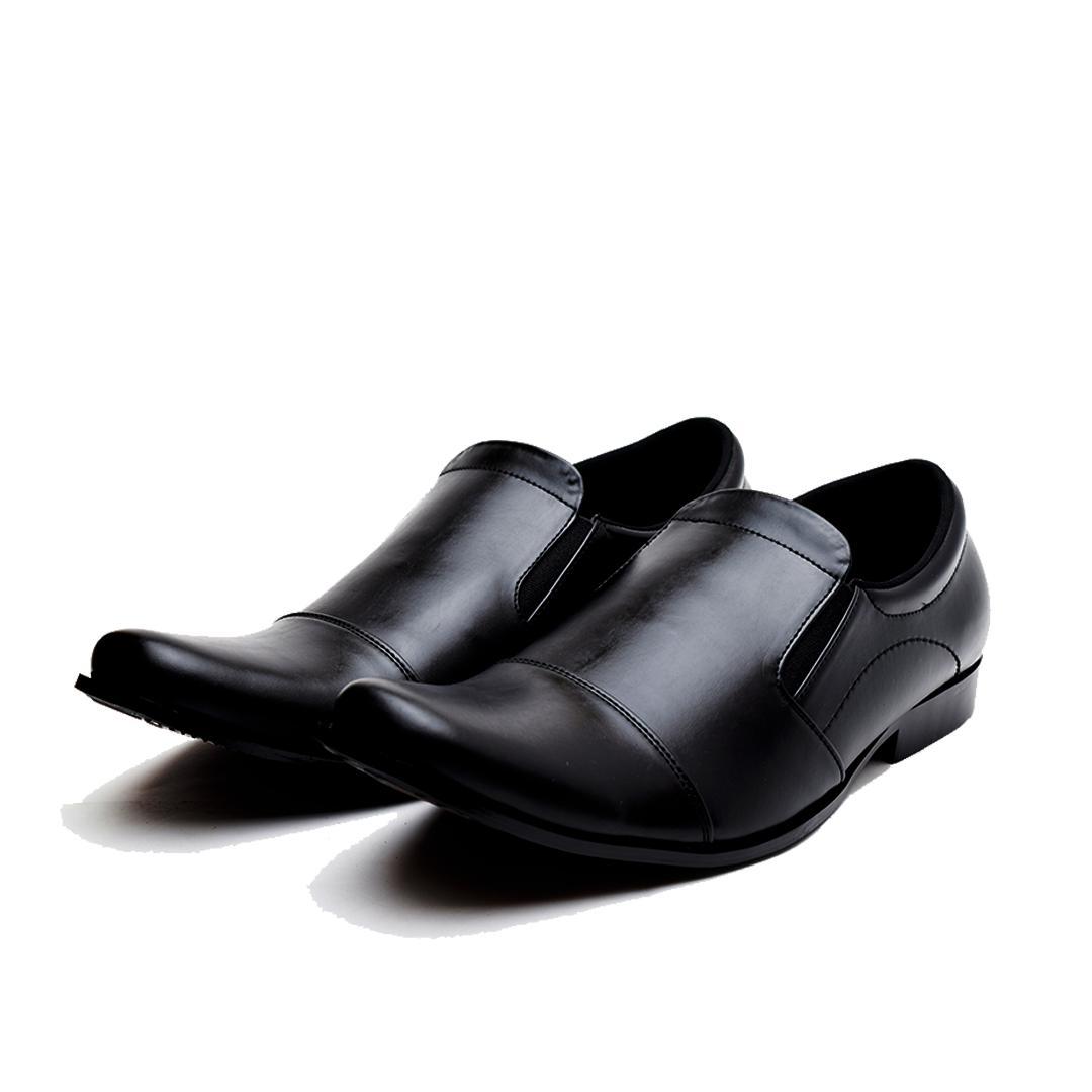 Promo Sepatu Pantofel Kerja Pria Kulit Big Size 44,45,46 utk formal dn pesta - Hitam, 44 Diskon