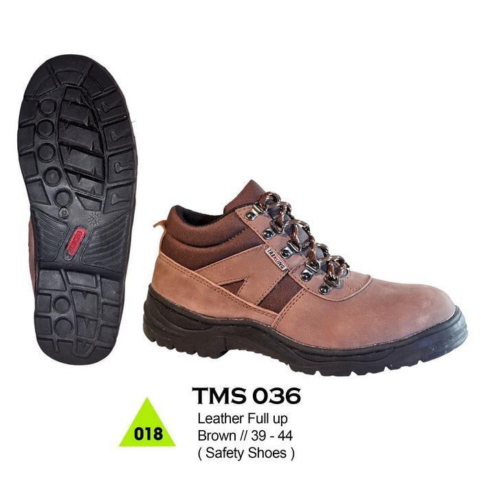Jual Sepatu Kerja Safety Smi Boots Pria Bahan Kulit Handmade Cibaduyu