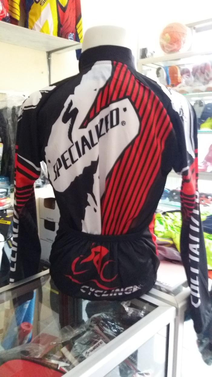 Fitur Kaos Jersey Sepeda Specialized Hitam Merah New Design Hdqkpp Baju 3