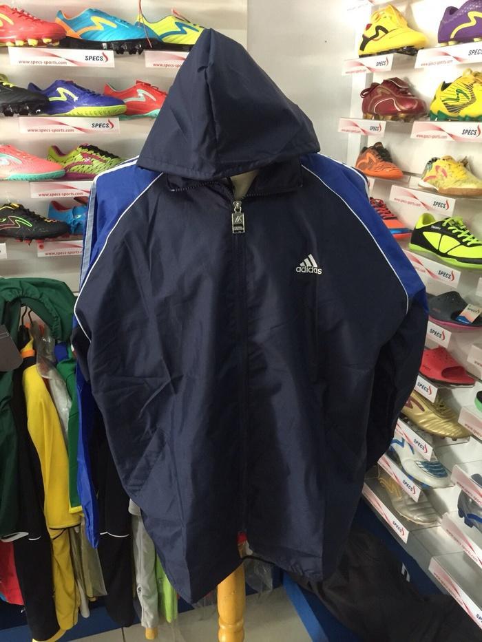 Jaket parasut untuk lari olahrga running navy biru dongker allsize XL - HfeC4k