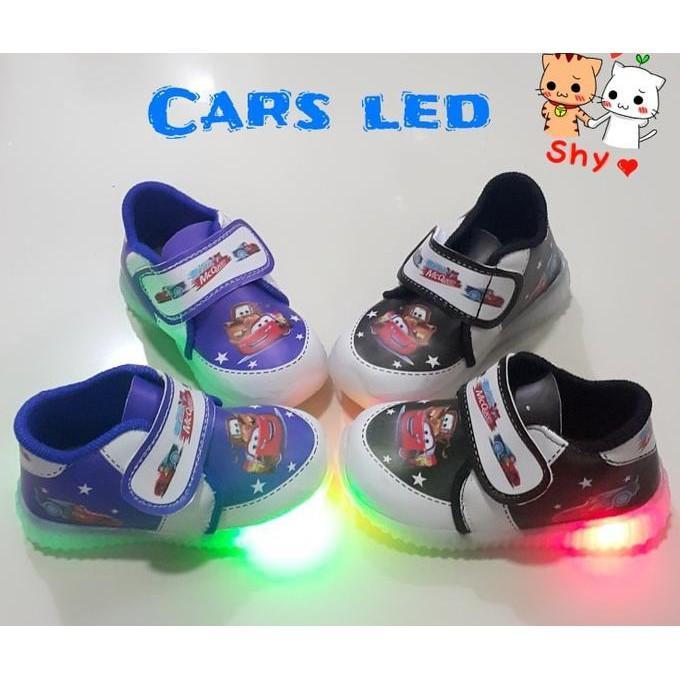 harga SEPATU ANAK LAKI LAKI CARS LED TEMPEL  FASHION ANAK Lazada.co.id