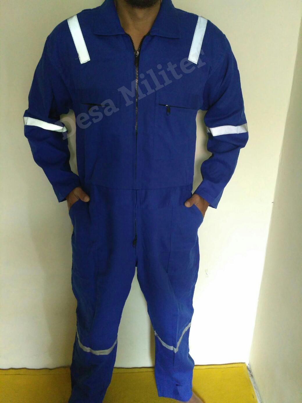 Wearpack Biru Scoutlight - Katelpak - Overall - Seragam Safety - Seragam Bengkel - Kemeja Proyek