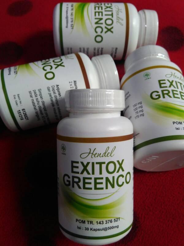Ready Stock Obat Pelangsing Badan HENDEL EXITOX GREENCO GREEN COFFEE BEAN EXTRACT PELANGSING BADAN RESMI BPOM