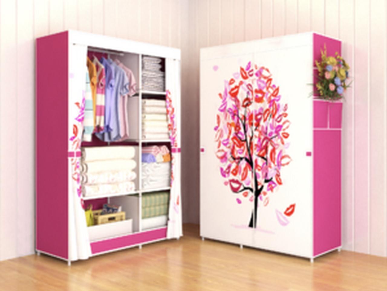 03 TREE Multifunction Wardrobe / Cloth Rack with cover lemari pakaian PROMO MURAH!!!