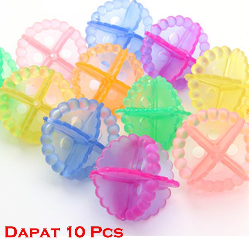 Laundry Clean Crystal Ball - Bola Karet Mesin Cuci Pembersih Pakaian - 10 Pcs