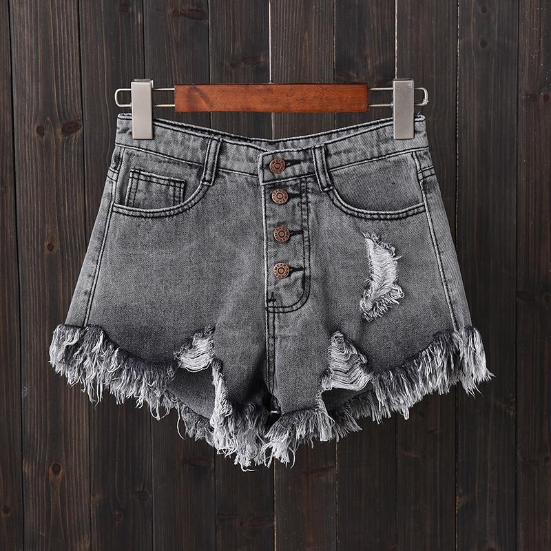 High Waisted Denim Shorts White Women Loose Wide Leg Pants Students Shorts By Fancytoy Market.