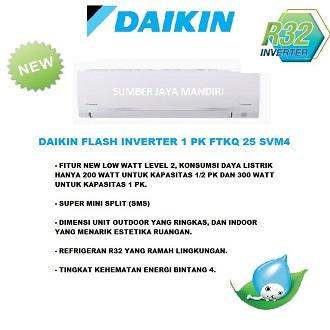 AC DAIKIN FLASH INVERTER 1 PK FTKQ 25 SVM4