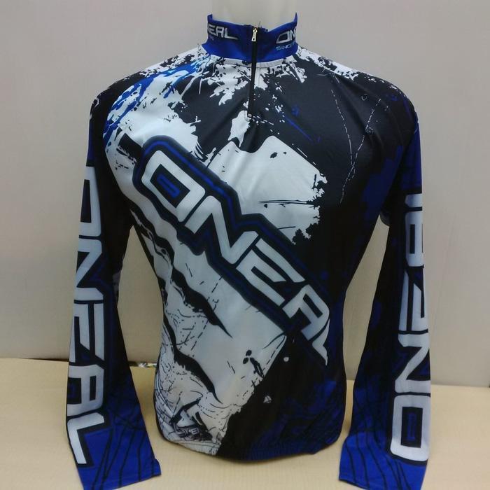 Baju Sepeda LS (tgn pjg) Oneal MX Biru - hH1PQf