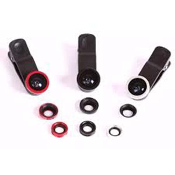 Lensa Fish Eye 3 In 1 Universal Clip Lens Fisheye Macro Wide