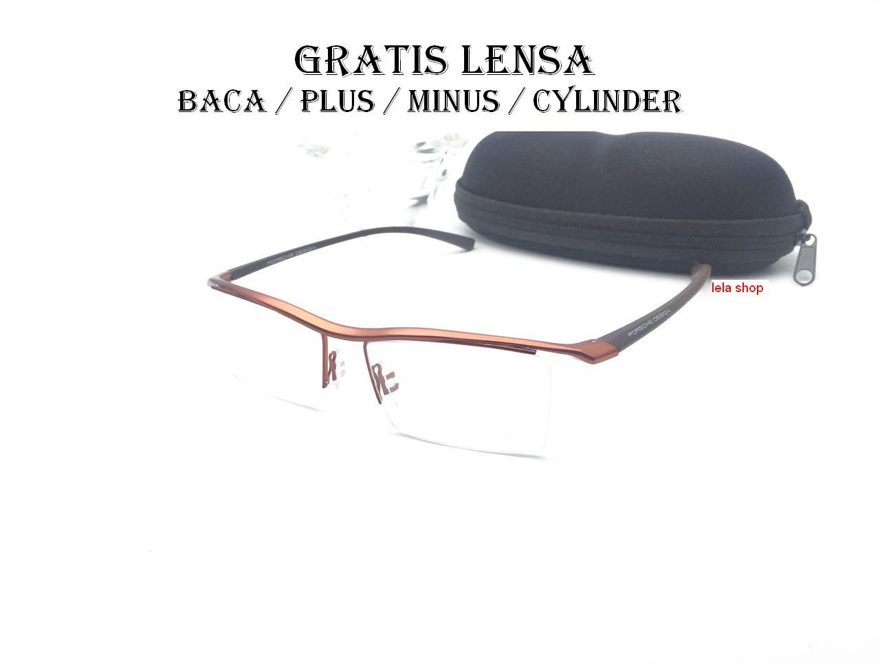 Frame Kacamata PO Titanium + Gratis lensa anti Radiasi Plus Minus Cylinder 6404dc8886