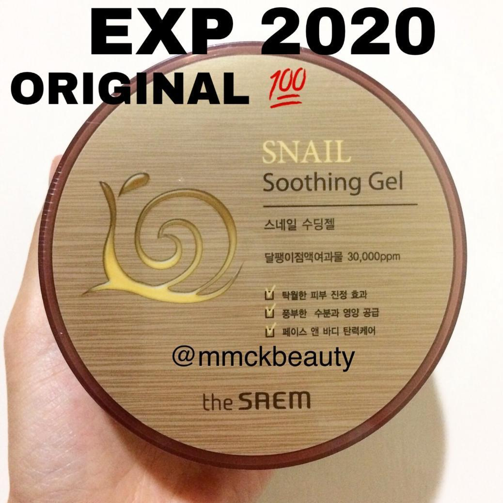 Fitur Snail Shooting Gel By The Saem Original 100 Dan Harga Terbaru Beauty Korea Jeju Fresh Aloe Soothing Bpom 300ml
