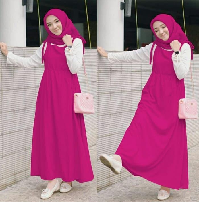 Baju Setelan Muslim Wanita GV Wakanda Merah Fanta