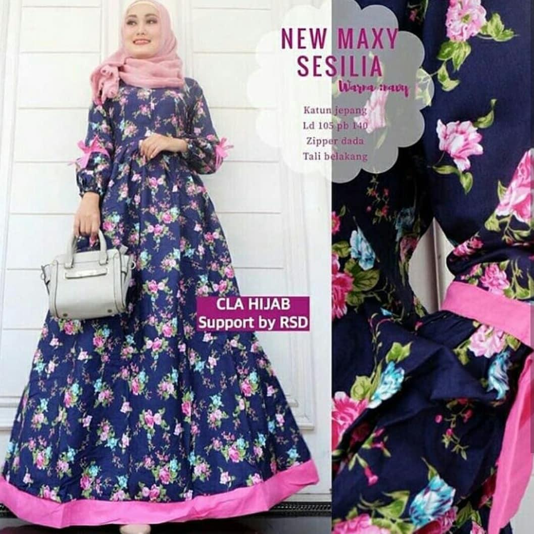 Baju Wanita Baju Gamis Baju Murah Baju Muslimah Baju Modern Sesilia Maxi