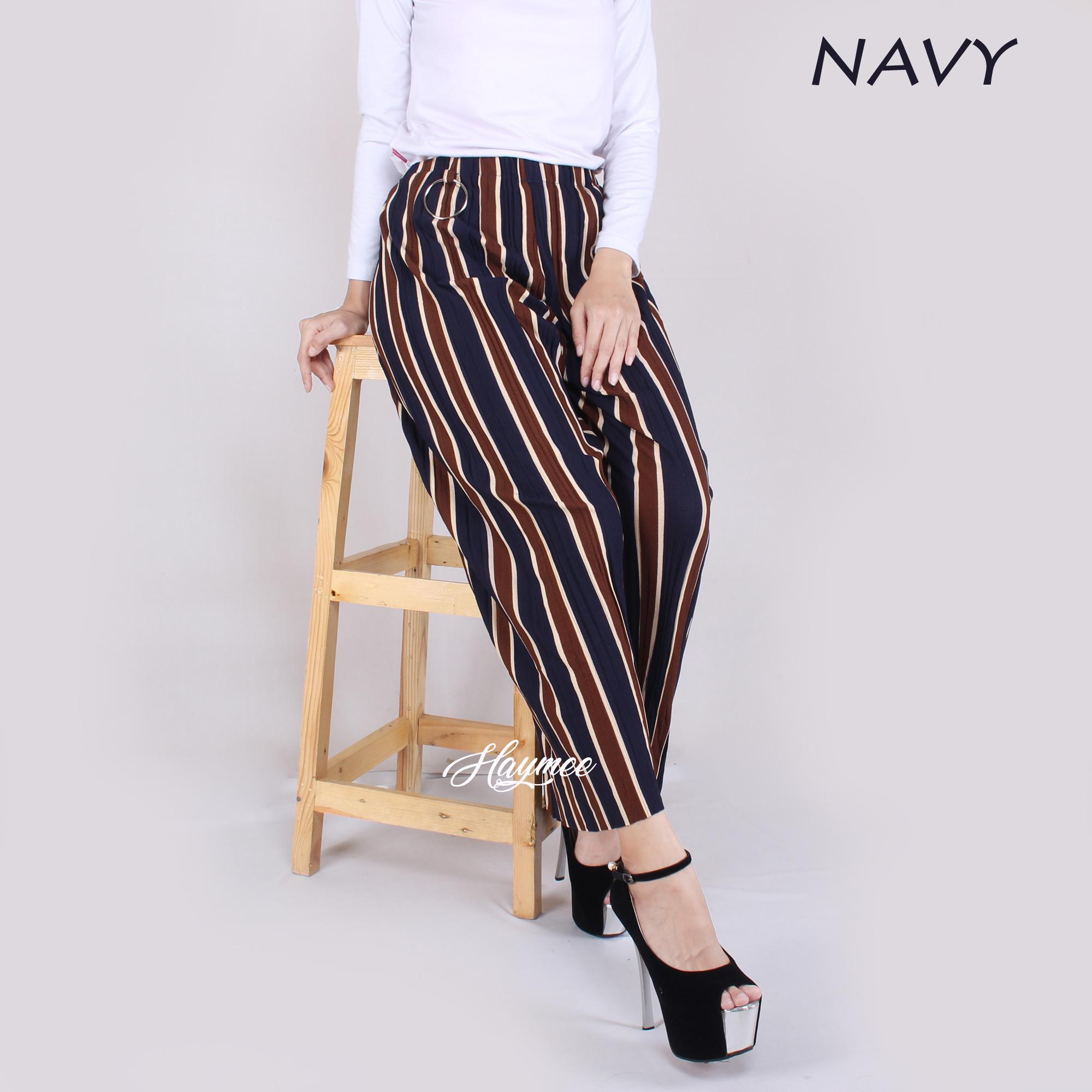 Moi Style Pleated Long Culotte Pants Celana Kulot Plisket Wolycrep High Quality Clothing Bcpj18100 Inc 5976 Salur Wanita Pleats Cullot Cewek Pinggang Tali