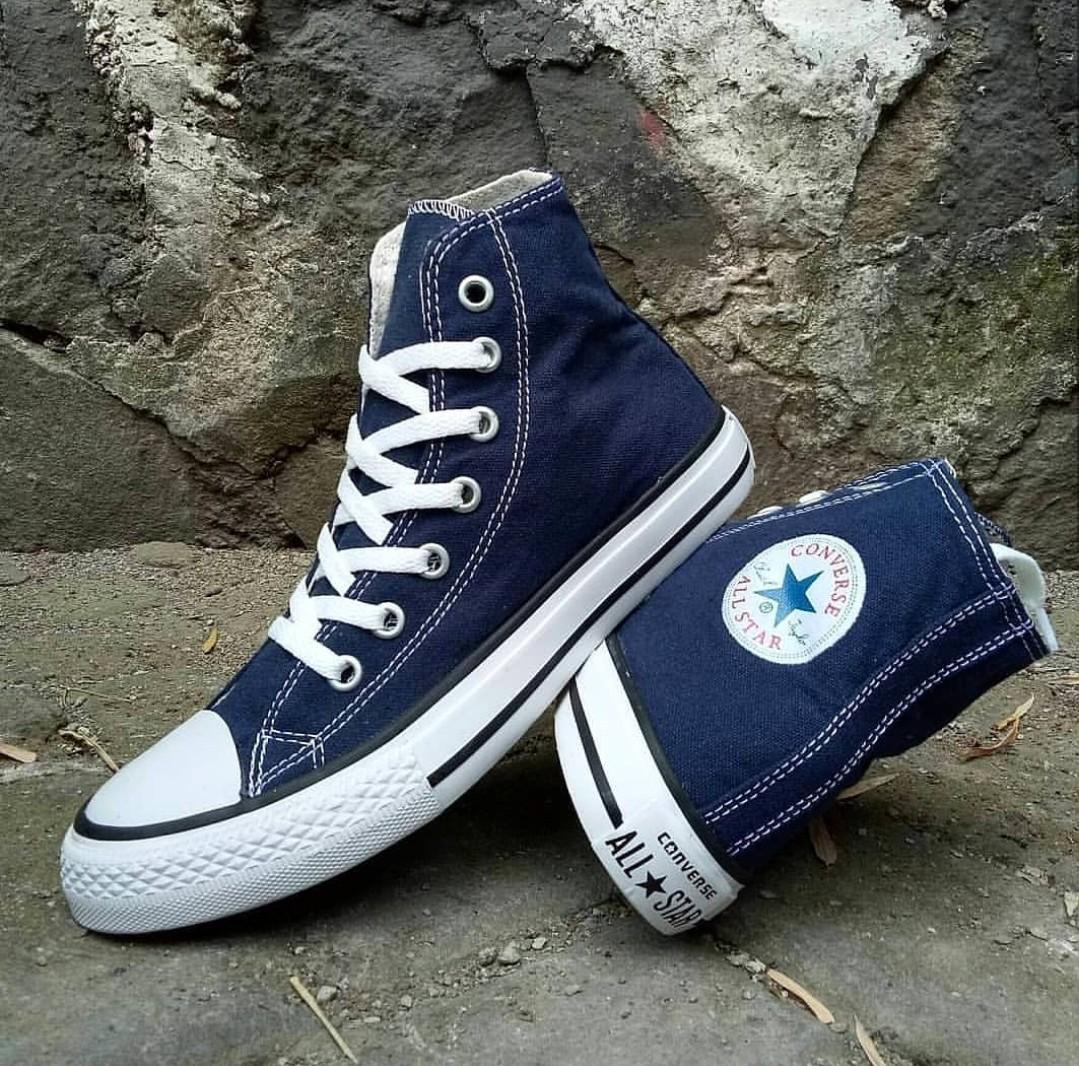 Sepatu sekolah-sepatu sneakers-sepatu converse high-boot navy
