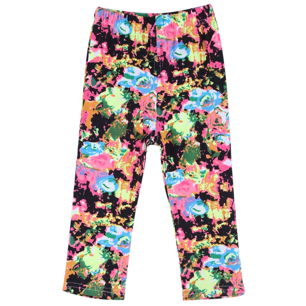 Infant Baby Girl Child Sweet Print Elastic Long Pants Leggings-Inkjet Pattern(18m).