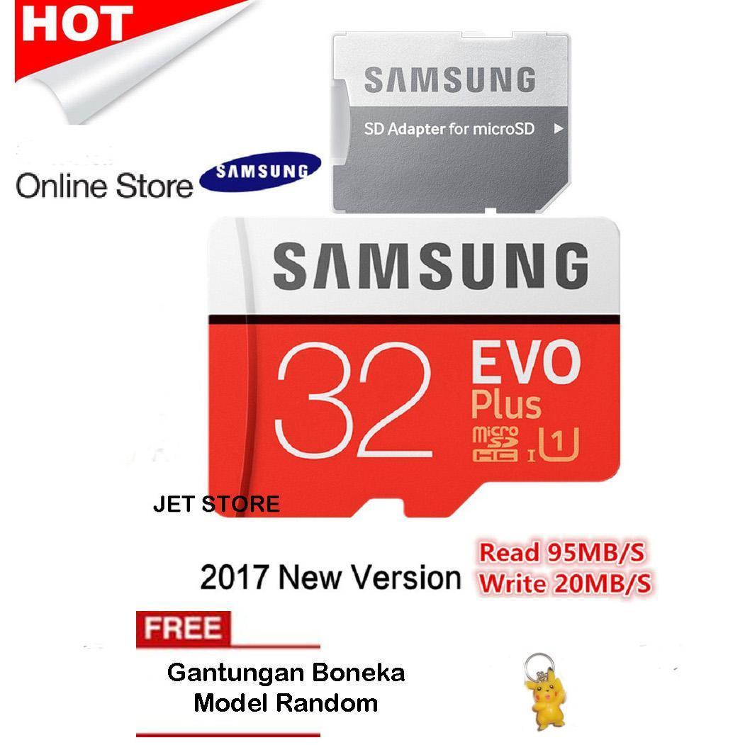 Samsung Memory Card microSDHC Evo Plus 32GB / 95MB/s - Merah + Gantungan Boneka Random