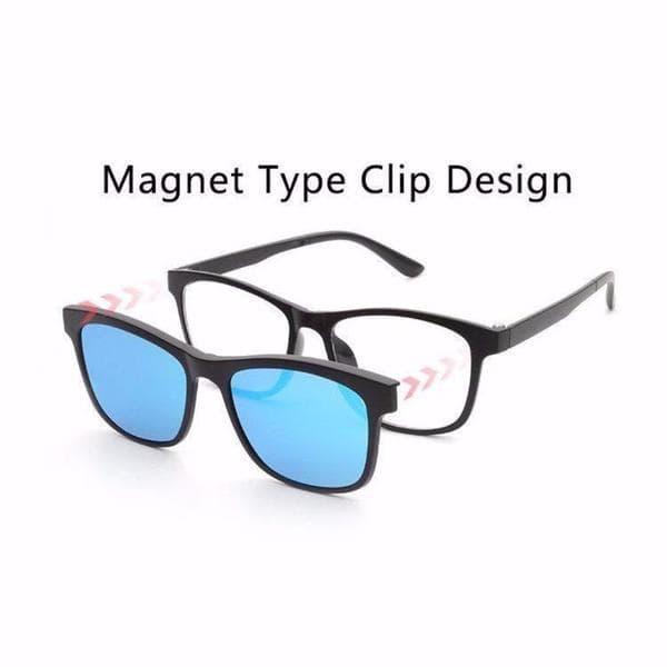 Kacamata Magnetic Sunglasses Clip On 5 Lensa Super Fullset 1278R - 3 .