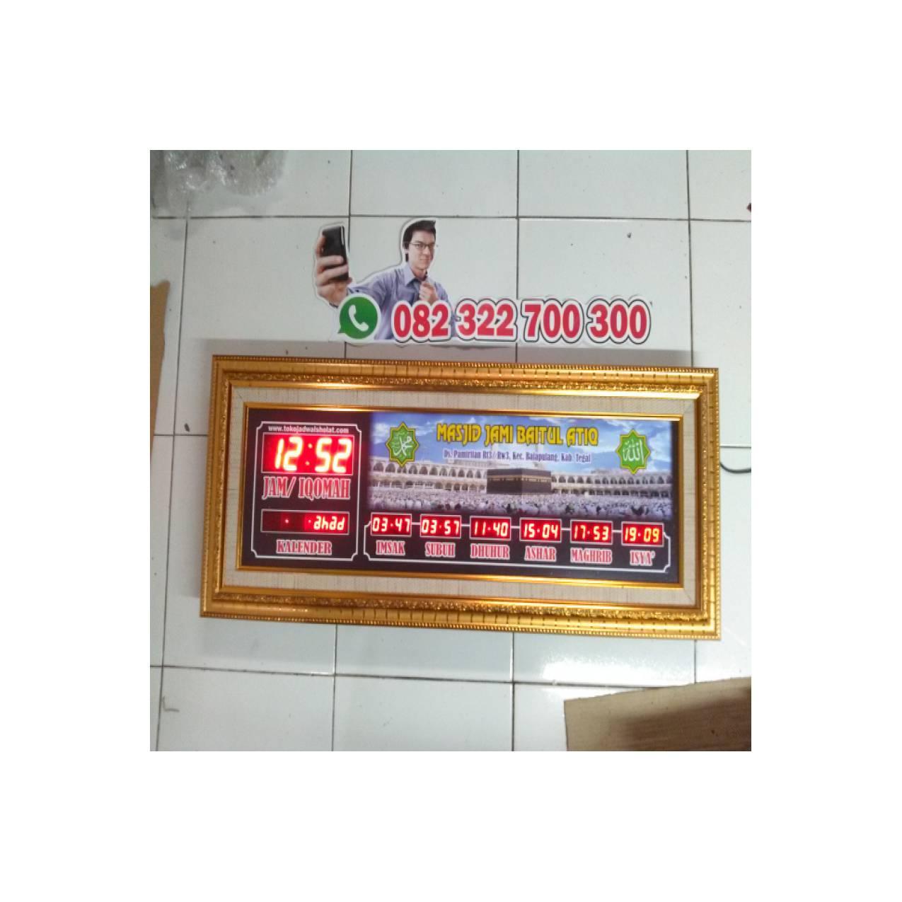 jam waktu sholat digital, jadwal masjid digital + alarm + timer iqomah
