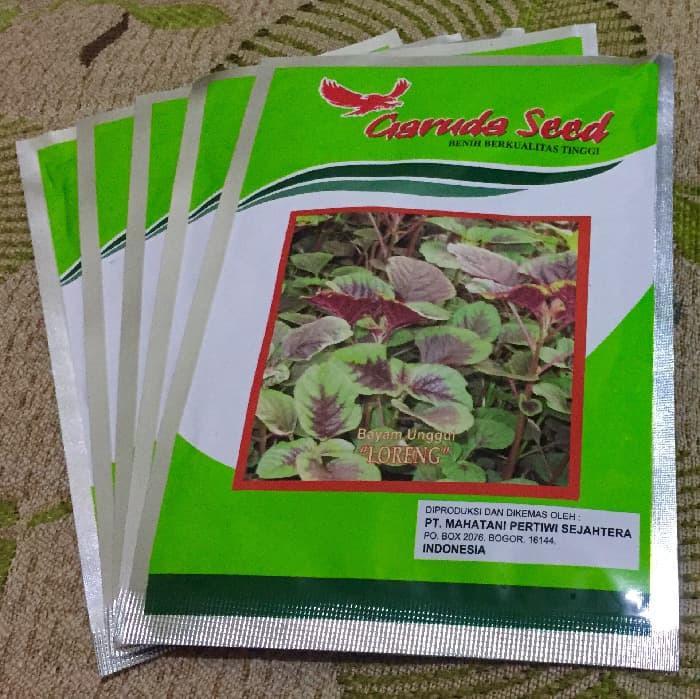 PROMO Benih Bibit Biji Unggul Bayam Batik LORENG Garuda Seed Isi 50 Gr
