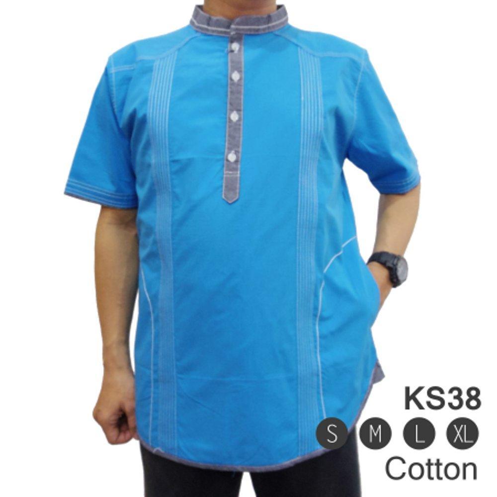 Baju Koko KS38 - Pakaian Muslim Pria.   ( fashion pria batik slimfit reguler jas dasi hem blazer jaket sweater kaos oblong tshirt polo celana jeans couple pakaian muslim gamis dress blouse ) di lapak New Trendy newtrendy