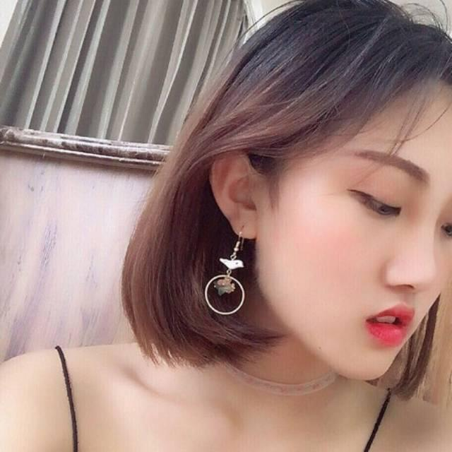 Anting Korea Anting Hooks Lucu Aksesoris Fashion Import Murah Natural Bird Shell Earrings J4U726