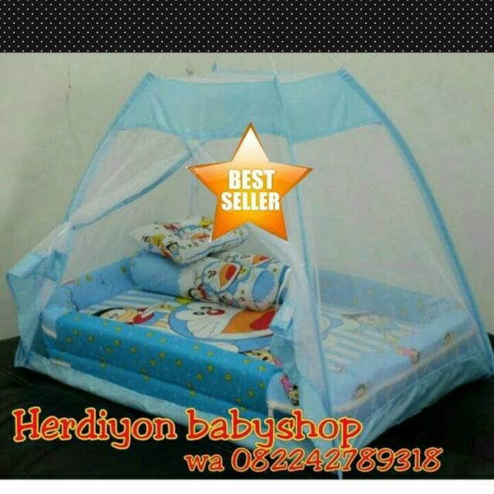 kasur bayi doraemon tenda kelambu/baju bayi/ayunan/gendongan/selimut