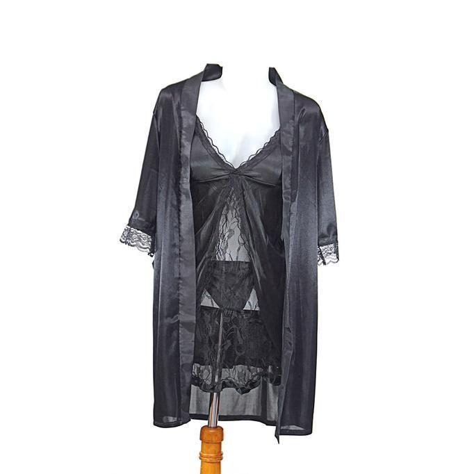 Kimono Lingerie Dan Inner Dalaman Hrs Babydoll Baju Tidur - Sexyjh