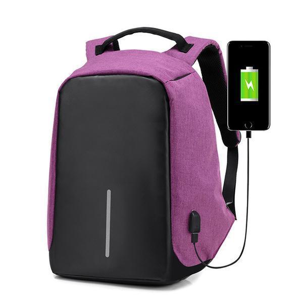 Tas Ransel Laptop Anti Maling dengan USB Charger Port Tas Ransel Pria Multifungsi Tas Laptop Backpack Laptop Tas Ransel Pria Tas Ransel Wanita Tas Ransel Laptop