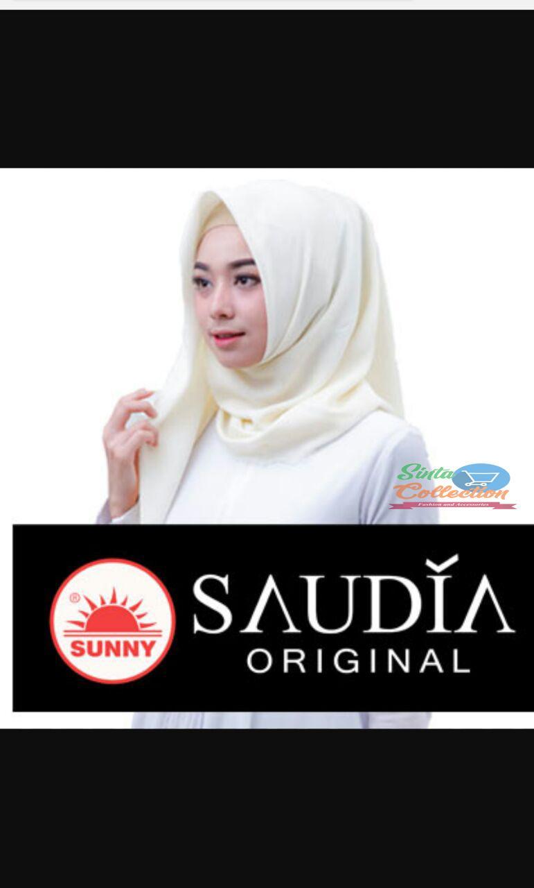 Hijab/ / Jilbab / Kerudung segi empat Saudia By Sunny Original polos wang_olshop