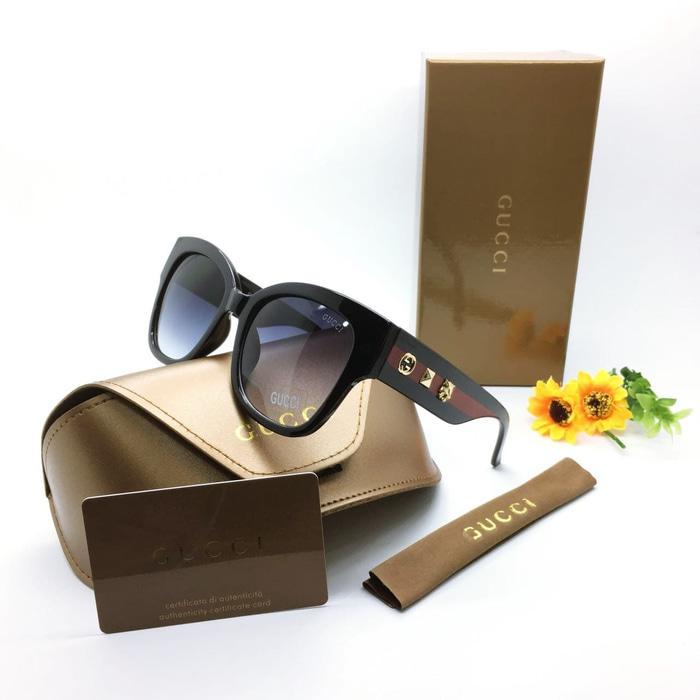 Kacamata / Sunglass Wanita Gucci M-3199 Fullset + Cairan Pembersih