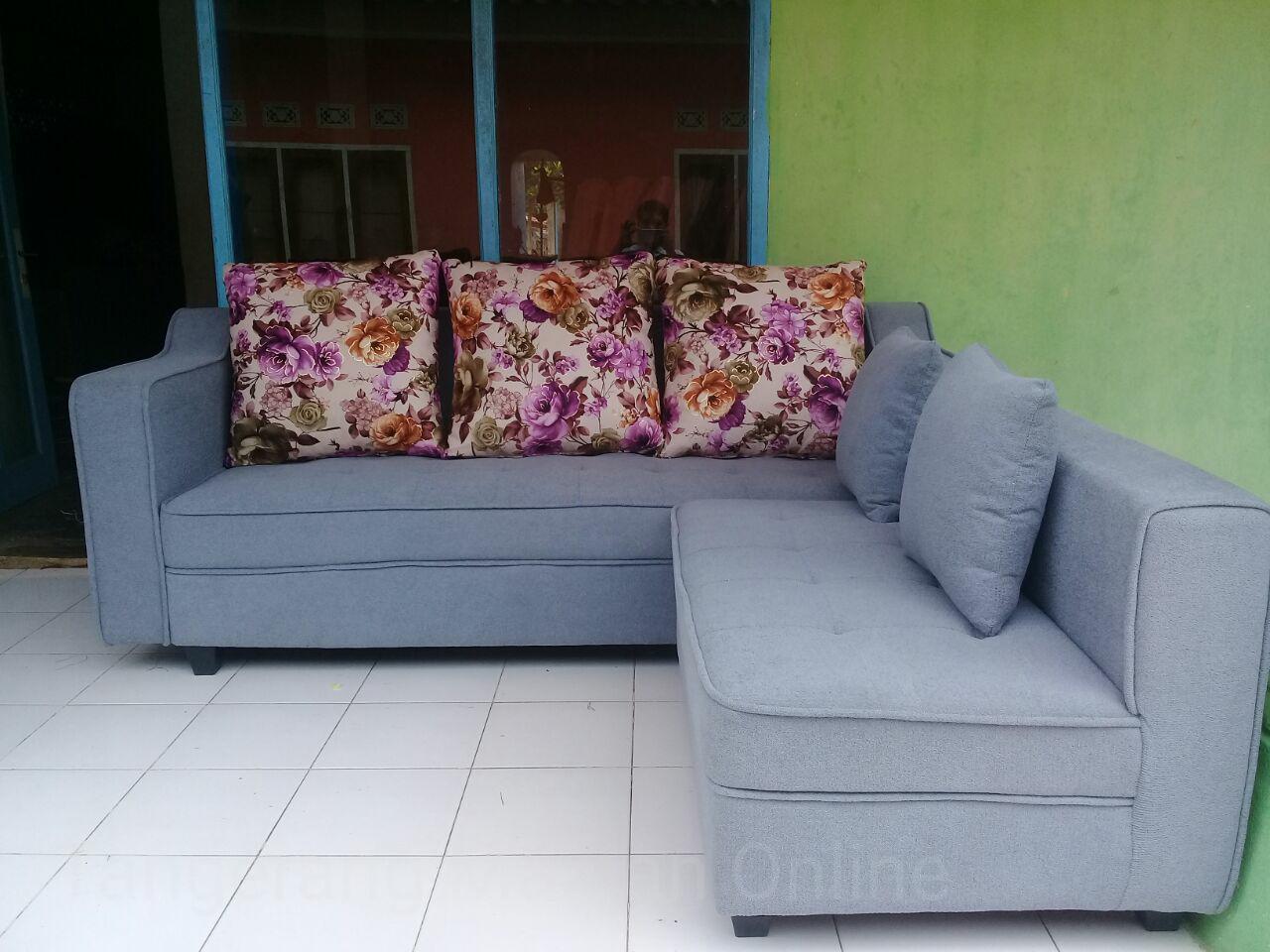 Sale Murah Tangerang Sofa L Abu Grey Kombinasi