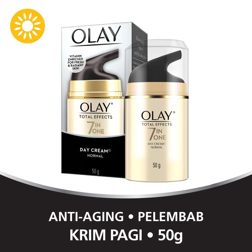 Olay Anti Aging - Pelembab Total Effects 7 in 1 Day Cream Normal - 50gr