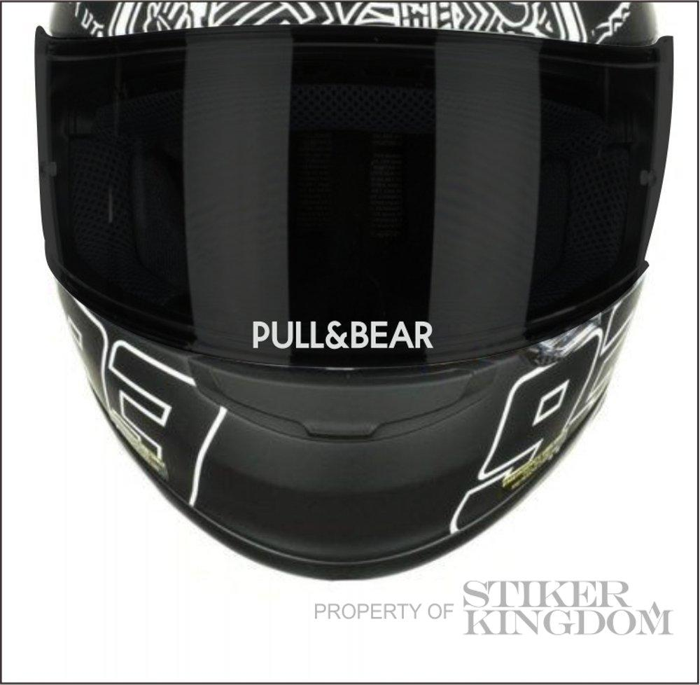 Stiker Visor Kaca Helm Pull&Bear Marques Cutting Sticker