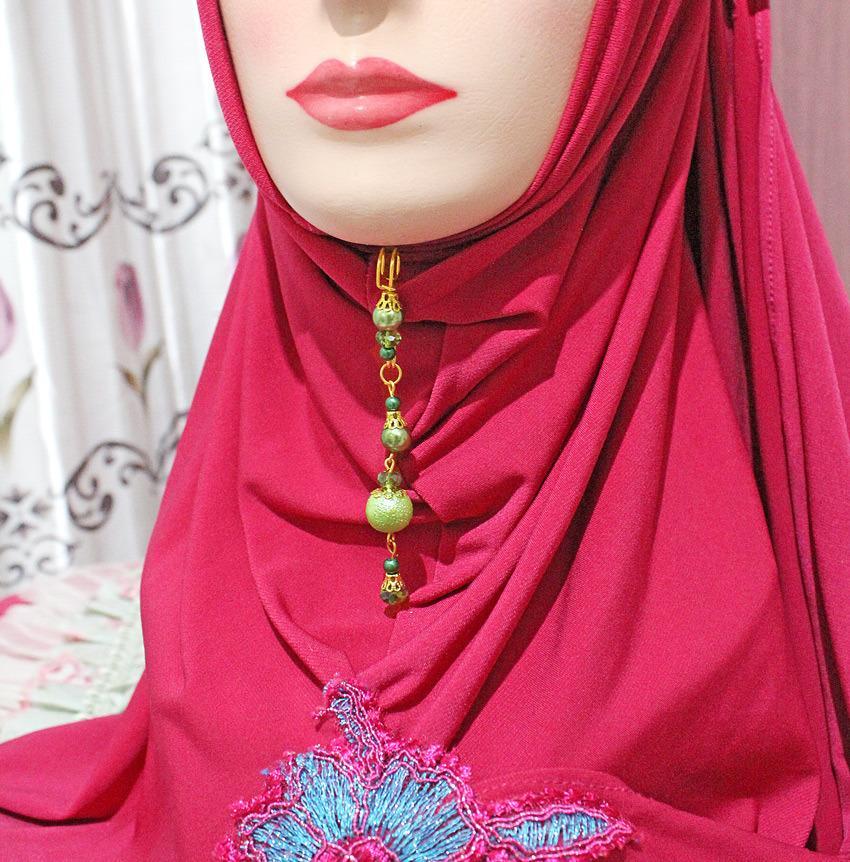Nafiza - Bros Jurai Peniti Hijab Kristal Aira Meizahra Hijau