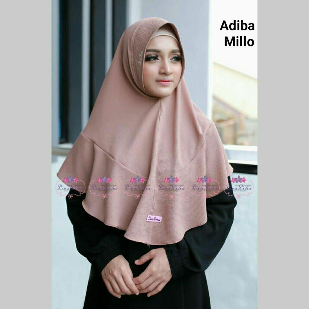 Jilbab instan ADIBA (coksu/milo) by Linalivia hijab kerudung bergo daily khimar best seller