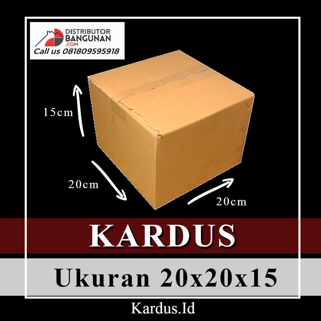 Kardus Dus Karton Box Polos Packing Packaging Kecil Ukuran 20x20x15 Baru (Bkn Bekas)