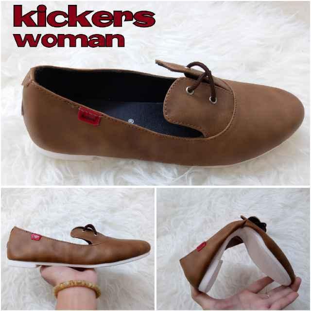 Promo Sepatu Wanita Kickers Elena Slop Coffe Casual Santai Flat Shoes Kerja  Diskon 06d9e61e95
