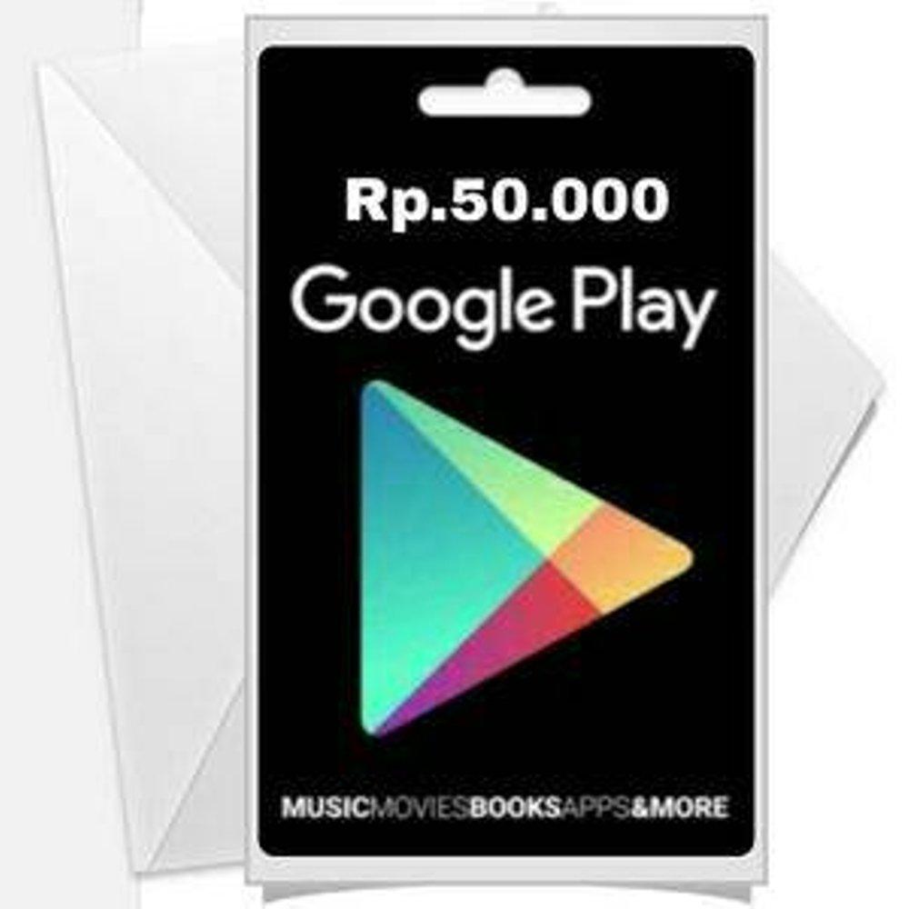Google Play Gift Card Indonesia IDR 50000